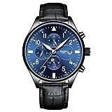 ZZRH Luxury Brand Rose Gold Uomo orologi automatici orologio meccanico orologio sportivo in pelle business casual retrò orologio