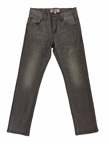 justfound4u Quality Boys Kids Slim Fit Jeans Cotton Faded Black Light Grey Skinny Denim Trousers Pants CA Age 9-16 yrs US 128-176