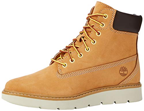 Timberland Kenniston 6 Inch Lace Up, Botas para Mujer, Amarillo Wheat Nubuck, 38 EU
