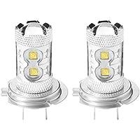 XCSOURCE 2pcs Auto High Power H7 50W 10 SMD LED Cree DRL guida della nebbia della lampadina del faro dell'automobile della lampada luminosa eccellente