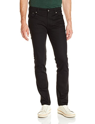 Nudie Jeans Thin Finn, Jeans Unisex Adulto Nero (Dry Cold Black)
