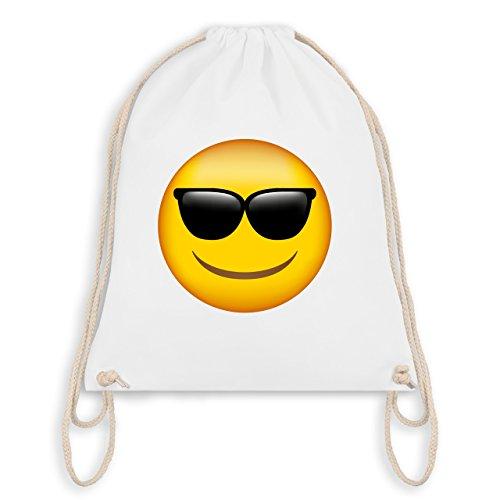 Comic Shirts - Emoji Sonnenbrille - Unisize - Weiß - WM110 - Turnbeutel & Gym Bag
