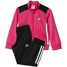 adidas LG Ess PES TS C - Chándal unisex, color rosa / gris, talla 134