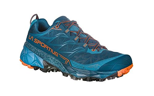 La Sportiva Akyra, Scarpe da Trail Running Uomo, Multicolore (Ocean/Flame 000), 47 EU