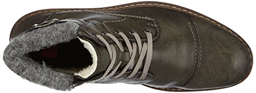 Rieker 33523-46, Scarpe stringate a collo alto Donna Marrone (Braun (smoke/grau / 46))