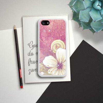 Apple iPhone 5s Housse étui coque protection Fleurs Fleurs Fleurs Housse en silicone blanc
