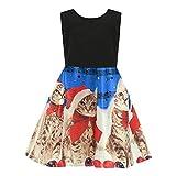 Riou Weihnachtskleid Mädchen Prinzessin Lang Ärmellos Weihnachten Kinder Baby Tutu Mini Elegant Ballkleider Abendkleid Elegant für Hochzeit Party Outfits Kleidung Set (120, Blau)