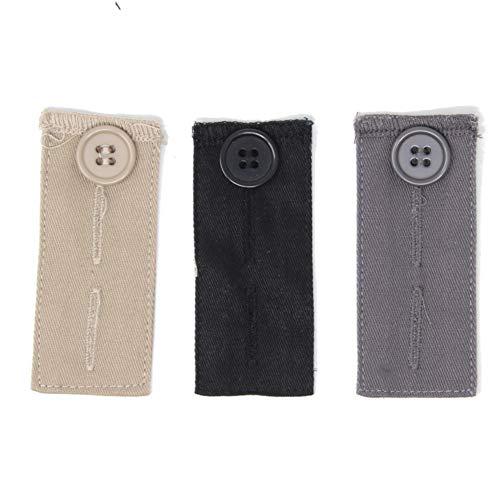 Gründl 3 Stück Bunderweiterung mit Knopf für Hosen&Röcke beige grau schwarz 1362