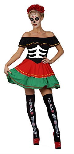 Classified Adult Day of the Dead Doll Costume X-Large (Large 12-14's)