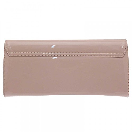 Peter Kaiser Liv Folder Over Clutch Bag With Strap Nude Patent