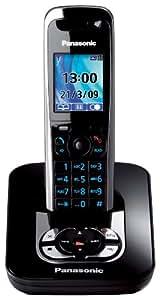 Panasonic KX-TG8421GB schnurloses DECT-Telefon mit Anrufbeantworter schwarz