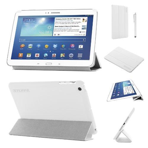 lim zusammenklappbar Multi Position Fall mit Tri Fold Stehen für 17,8cm Samsung Galaxy Tab 3-Weiß ()