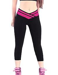 iLoveSIA® Leggings de sport Femme- Pantalons Capri Jogging YOGA Collants (Liquidation totale)