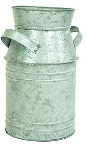 east2eden 2Lt Vintage Galvanised Milk Butter Churn Flower Vase Wedding Decoration Planter (Single)