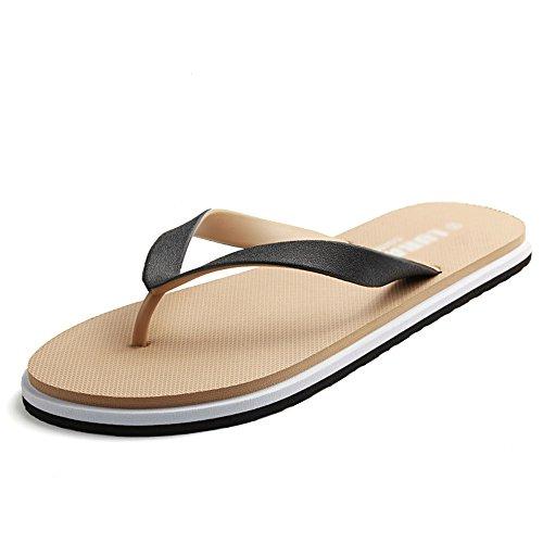 XIA&Sandali Scarpe Coppie Pantofole Personalità Plastica Lanciare Nero Blu Cachi Sandali Scarpe Da Spiaggia All'aperto ( Colore : Khaki color , dimensioni : EU40/UK7/CN41 ) Khaki color