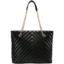 89ec31c95eafb Anna Field Shopper Tasche für Damen mit elegantem Kettenhenkel -  Schultertasche zum Umhängen mit edler Steppung