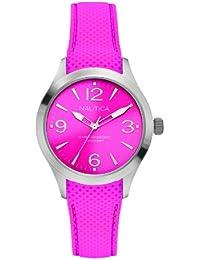 Nautica A11102M - Reloj de pulsera mujer, silicona, color rosa