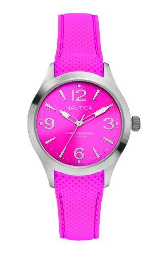Nautica Women's Quartz Watch with Silicone A11102M