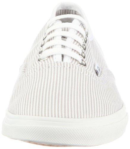 Vans Authentic Lo Pro VGYQ5QE, Sneaker donna Grigio (Grau ((Woven Stripe) grey/true white))