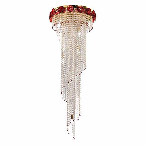 Il Paralume Marina Murano Glas Kristall Hängeleuchte Cara in Gold poliert | Handgefertigt in Italien | Pendelleuchte - Murano Glas Hängeleuchte