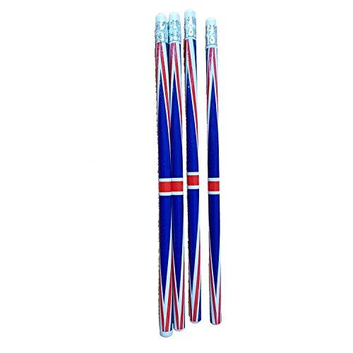 Ein Sets von 4London Souvenir Bleistifte Union Jack (Baumwolle-gepäck-set)
