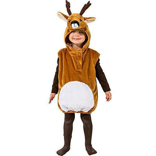 PARTY DISCOUNT® Kinder-Kostüm REH Überwurf mit Kapuze, Einh.gr