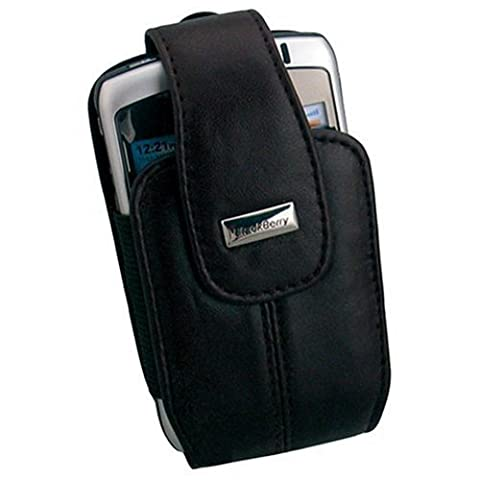 Original Blackberry Pearl 8100 8110 8120 8130 Leather Swivel Pouch Black