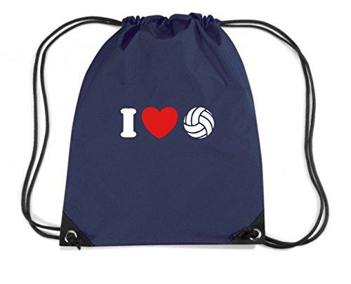 T-Shirtshock - Zaino Zainetto Budget Gymsac TLOVE0088 i love volleyball tshirt, Größe Kapazität 11 Liter (Love Volleyball T-shirt)