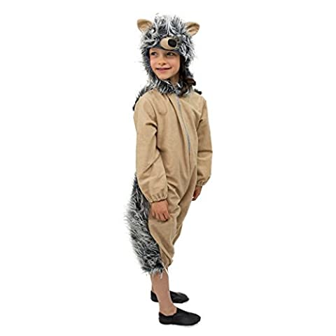Kinder-Kostüm Igel Mekki Gr. 116- 140 Overall Igelchen Tierkostüm Fasching