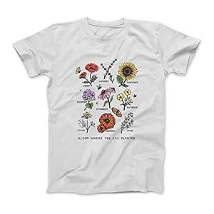 Bloom, wo Sie sind Gepflanzt Botanican Blumen-Geschenk-T-Shirt SweatshirtHoodie Tank Top für Männer Frauen Kinder