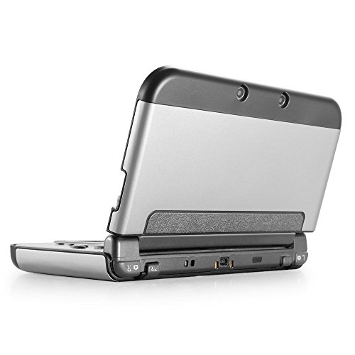 TNP New 3DS Case (Silver) - Plastic + Aluminium Full Body Protective Snap-on Hard Shell Skin Case Cover for New Nintendo 3DS 2015 by TNP Products