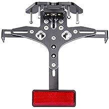 Motocicleta Soporte para marco de placa de la motocicleta Soporte ajustable para luces de cola de