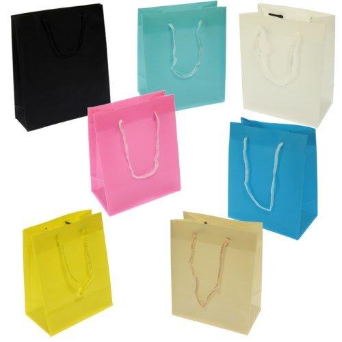 Pack 48 Bolsas Regalo 14x11,50x6,5 cm Colores Surtidos - Tamaño XS (48 Pcs.)