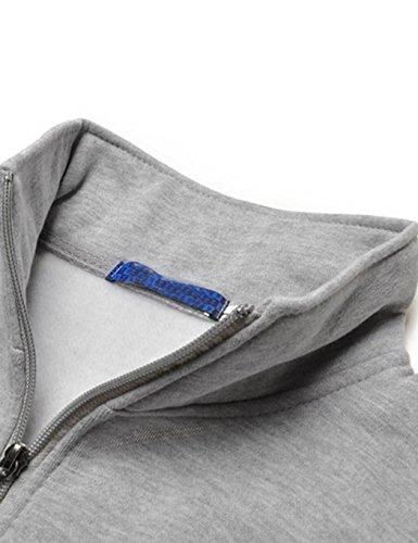ZEARO Femme Sweat à Capuche Pull Uni Décontracté Manche Longue Zippé Hoodie Veste Sweat-Shirt Sport Gris 1 Unisex