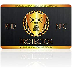 Protection Carte Bancaire, Carte Anti RFID, Fini l'Etui Carte Bancaire Anti Piratage, Protege Passeport et Carte Bleue sans Contact, Accessoire De Voyage/Transport Indispensable, 1 Seule Carte Suffit