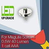 MagLite Solitaire - Lampadina a LED compatibile con Philips per conversione/aggiornamento torcia MagLite Solitaire alimentata da 1 batteria AAA