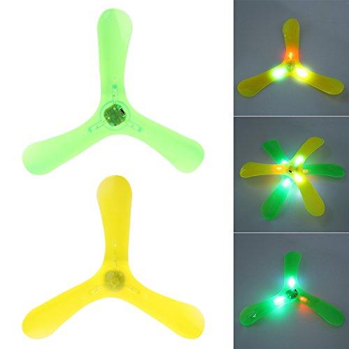 Kofun Boomerang Leuchtende Fliegende Spielzeug Outdoor Park Untertasse Lustiges Spiel Kinder Sport Perfekte Weihnachten Geburtstag Spielzeug Geschenk Für Kinder Glühende Dreieck Ziehen Darts