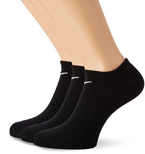 Nike Socken 3 Paar Value No Show, Black/White, S (34-38 EU), SX2554-001 (Schwarz No-show Nike Socken)