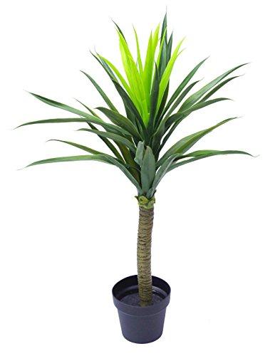 Newsbenessere.com 41cW-XrGGPL 90cm (0,9m) grande Yukka pianta albero artificiale Bush Arbusto con vaso nero di foglia