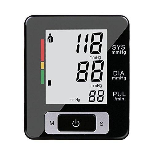 Digitales Blutdruckmessgerät Automatisches Elektronisches Handgelenk Blutdruck und Pulsmessung Messgerät Herzschlag-Detektor WHO mit Arrhythmie-Erkennung, Leichte Lesbarkeit, Tragbar für Hausstand (Blutdruck Armmanschette Automatische)