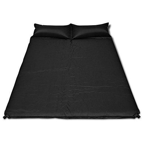 Festnight- Selbstaufblasende Luftmatratze Campingmatratze Liegematte Sleepin Schwarz 190x130x5cm (Doppelmatratze)