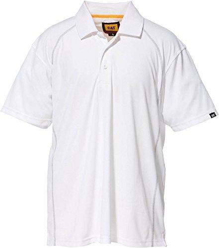 Caterpillar C1620520 Herren Performance Polo-Shirt, Kurzarm White