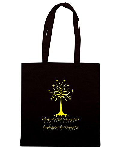 T-Shirtshock - Borsa Shopping T0680 The Lord of the Rings albero di gondor film inspired Nero