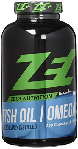 ZEC+ hochdosierte OMEGA-3-Fettsäuren 250 Kapseln | Fischöl | EPA DHA | höchst-mögliche REINHEIT
