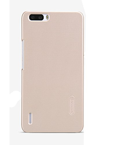Newtronics Golden Smart Nillkin Frosted Shield Hard Bumper Back Case Cover With Free Screenguard For Huawei Honor 6 Plus  available at amazon for Rs.279