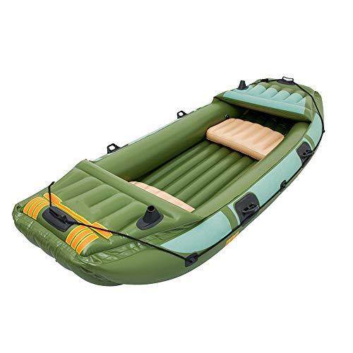Kanqingqing Kajak Schlauchboot DREI Dicke Fischerboot Beiboot Leder Kajak Kajak Hovercraft (Farbe : Grün, Größe : 3.16x1.24M)