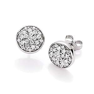 Spirit - New York Damen-Ohrstecker 925 Silber rhodiniert Zirkonia weiß Brillantschliff - 94001793