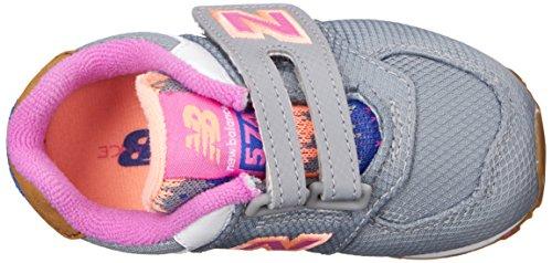 New Balance Nbkg574e9i, Sandales pour bébé se tenant debout garçon Gris - Grigio (Grey Pink)