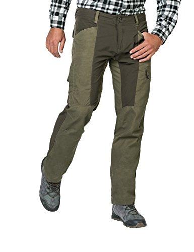 Jack Wolfskin Herren Dawson Flex Pants Men Reisen und Alltag Wind-und Wasserabweisend Hose, grün(Woodland green), 52 -