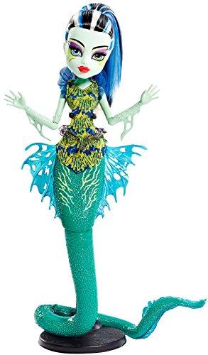 Monster High Mattel DHB55 - Modepuppen, Das Große Schreckensriff, Leuchtende Monsterfische Frankie